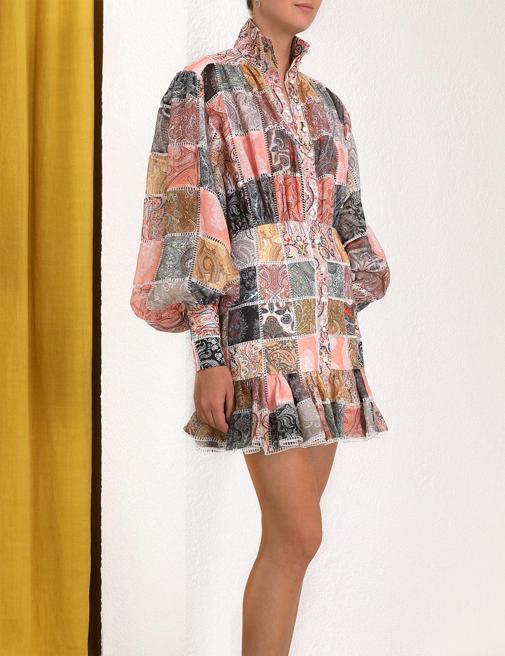 Ninety-Six Patch Mini Dress