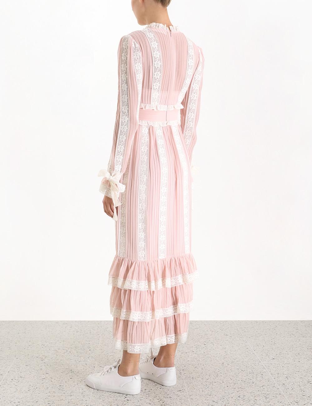 Verity Pintuck Long Dress