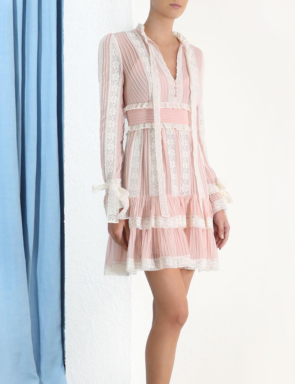 Verity Pintuck Short Dress