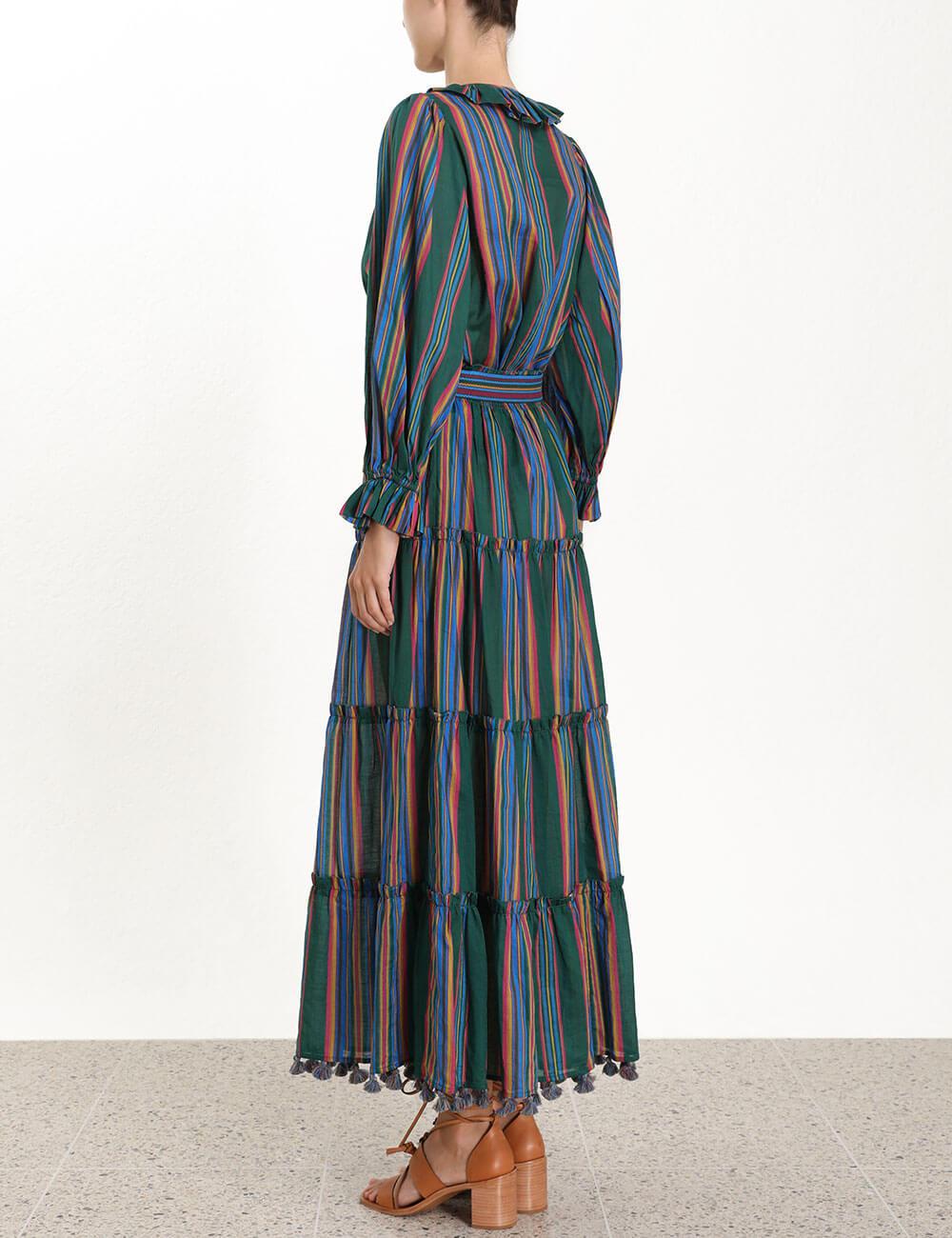 Allia Stripe Linear Skirt