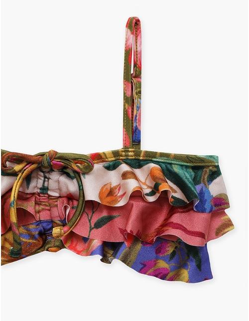 Tropicana Spliced Frill Bikini