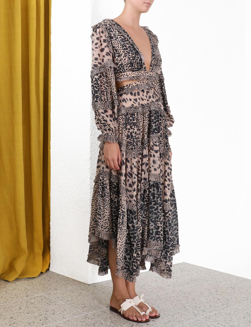 Allia Cut Out Long Dress