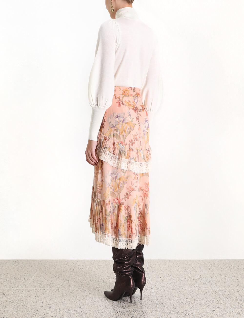 Espionage Pleat Frill Skirt