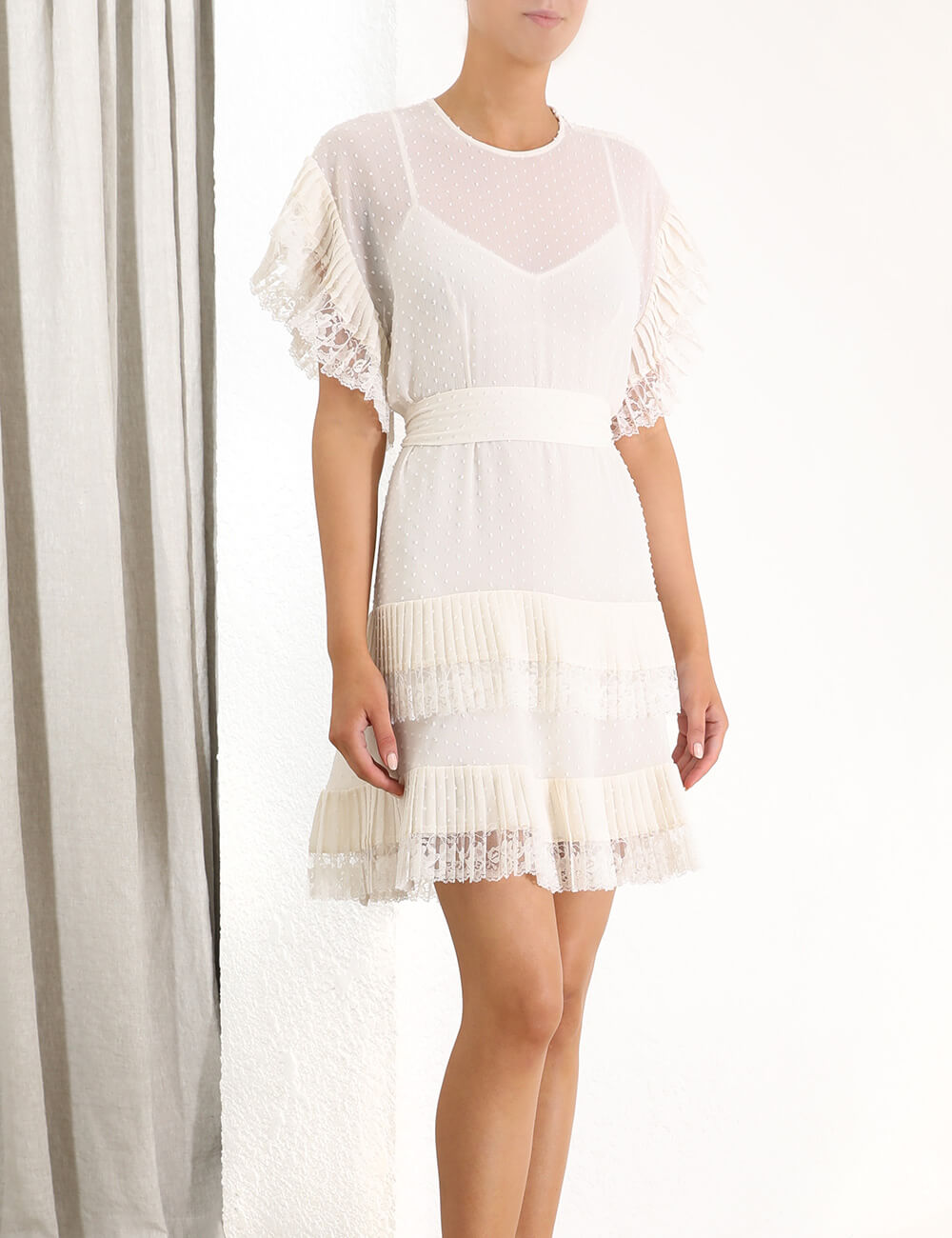 Espionage Pleat Frill Mini