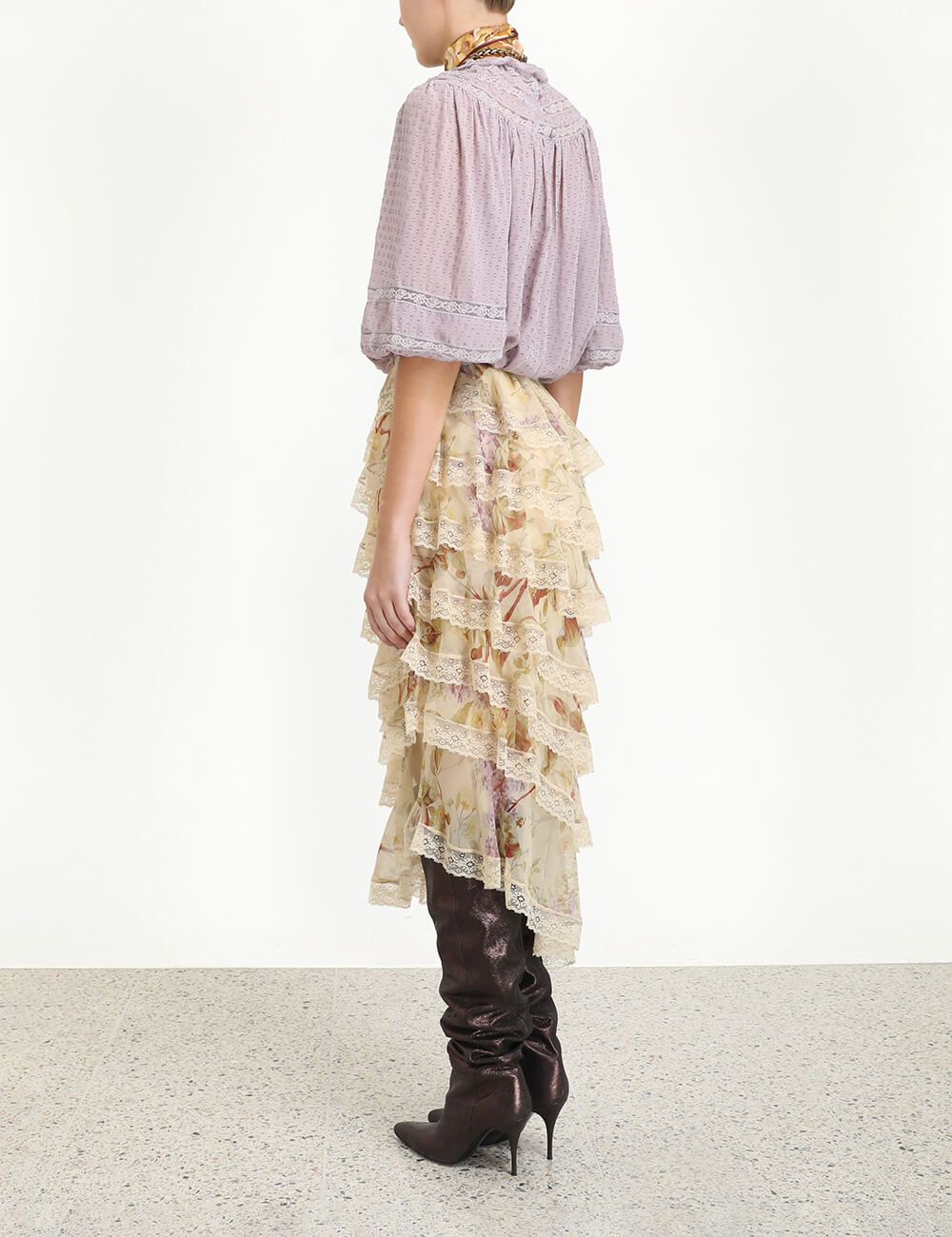 Sabotage Tiered Lace Skirt