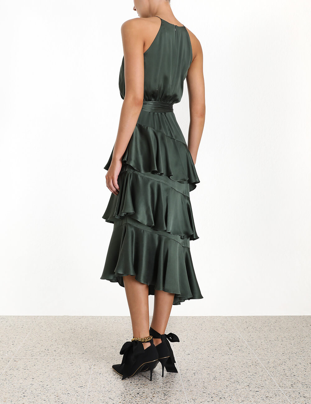 Espionage Silk Picnic Dress