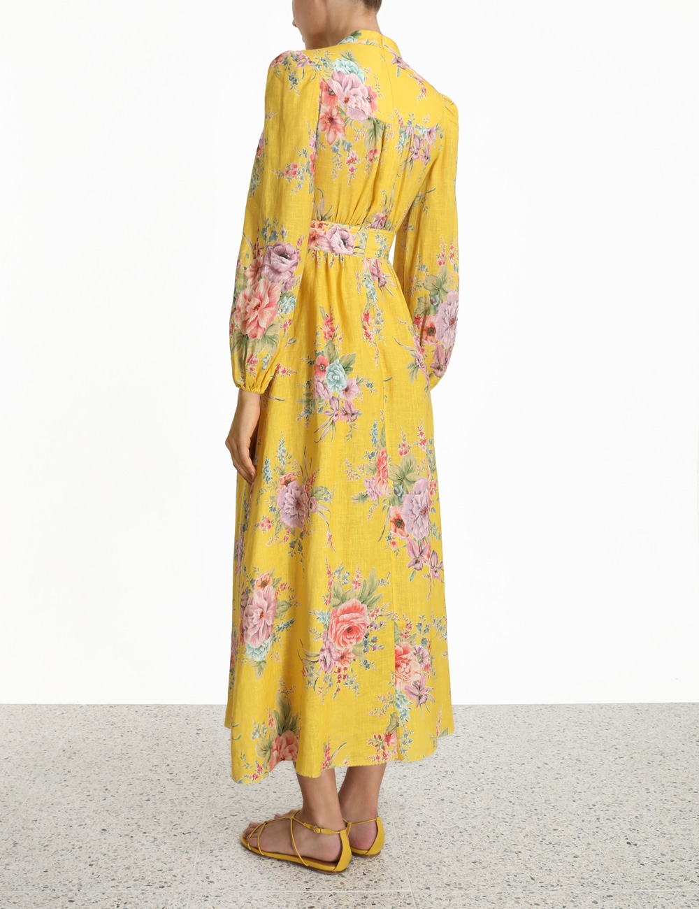 Zinnia Button Down Long Dress