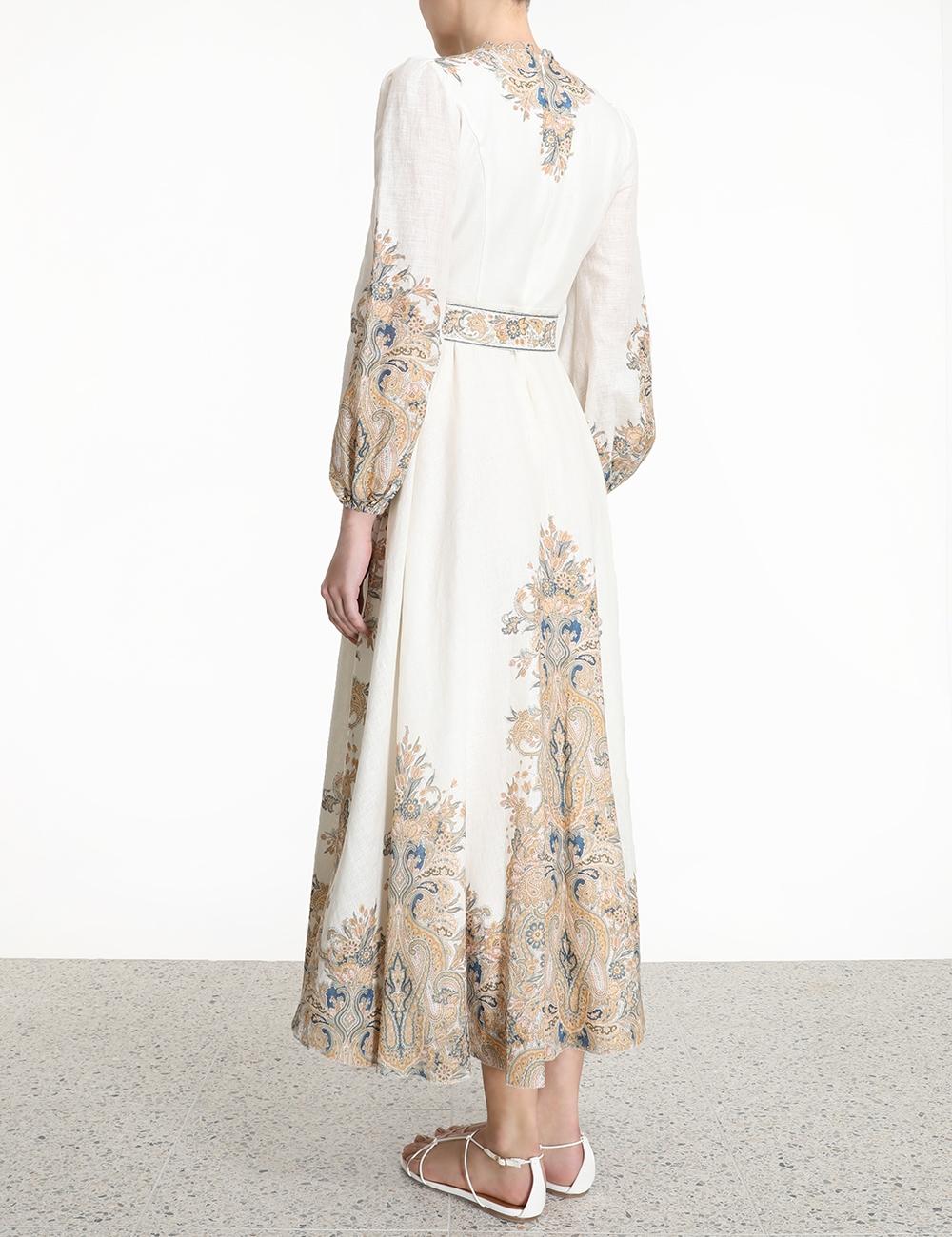Freja Paisley Long Dress