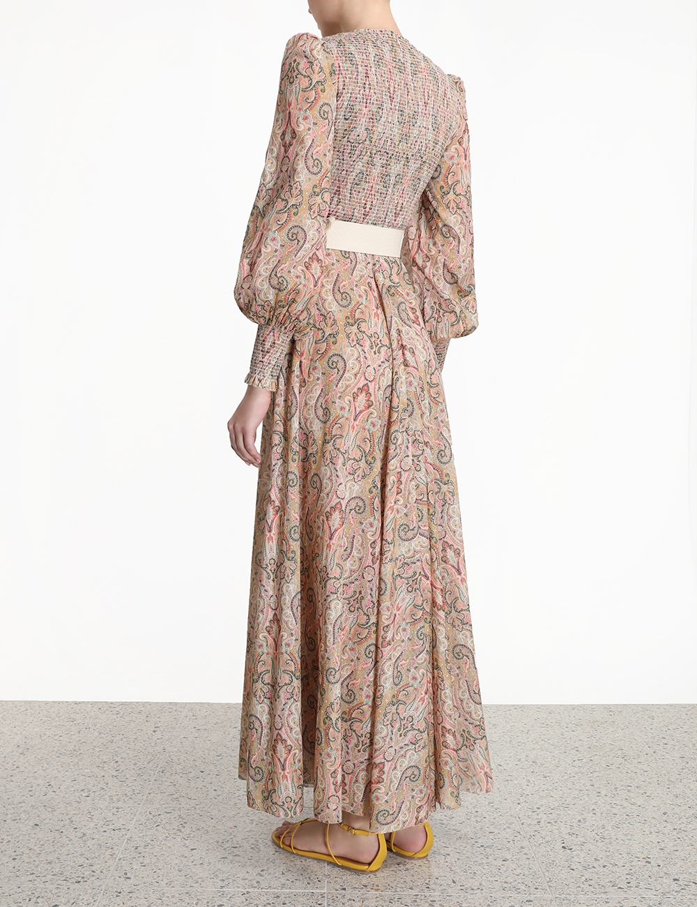 Freja Shirred Long Dress