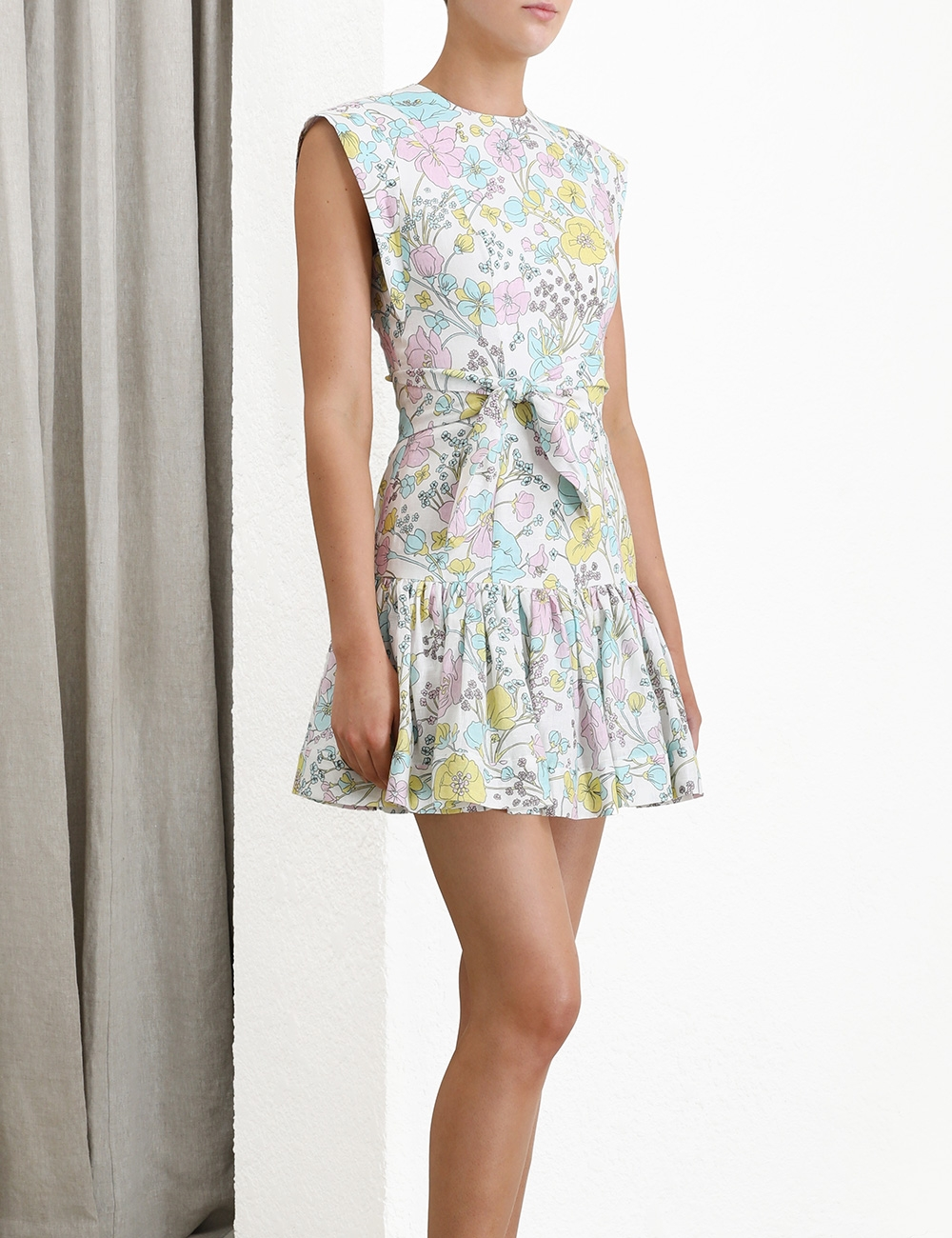 Peggy Flounce Short Dress