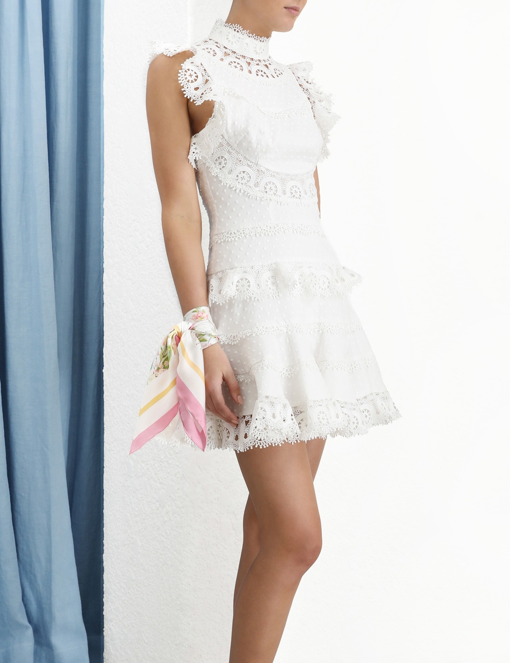 Peggy Embroidered Short Dress