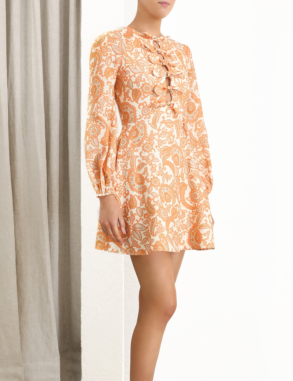Peggy Scallop Short Dress