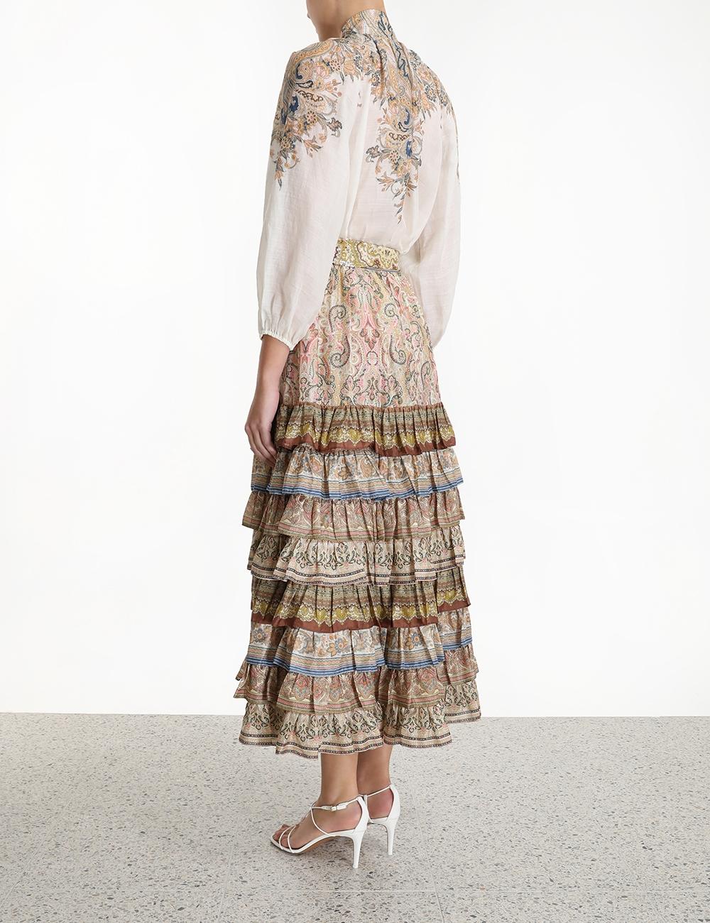 Freja Tiered Maxi Skirt