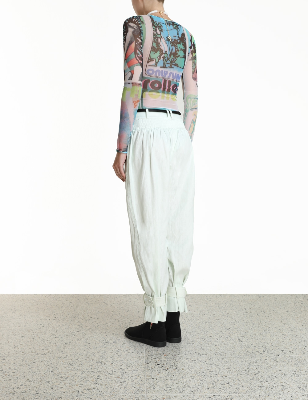 Glassy Slouch Army Pant