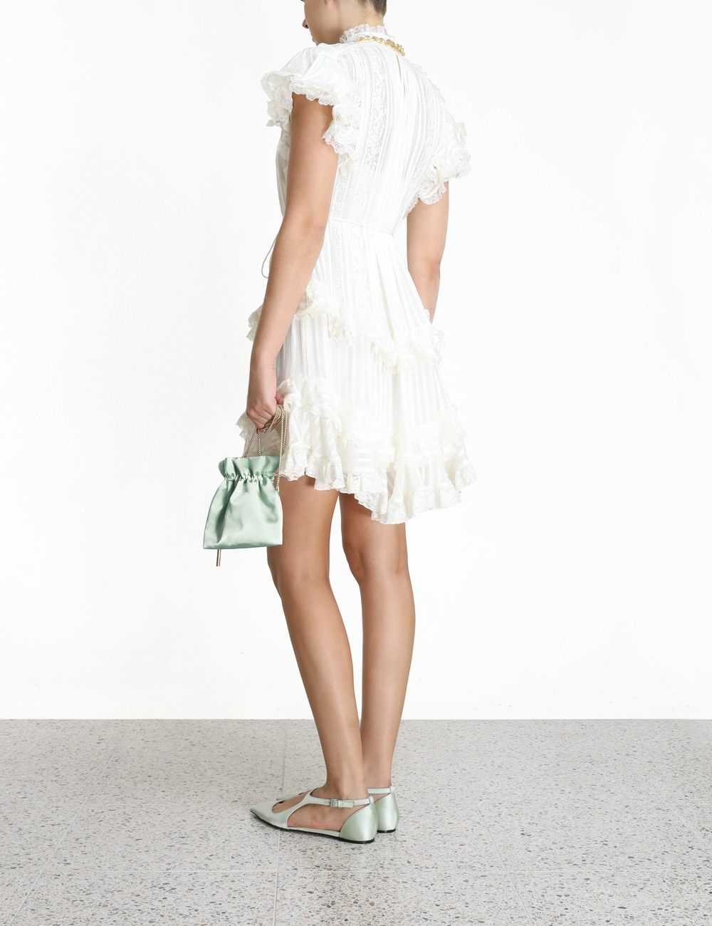 Brightside Frilled Lace Mini