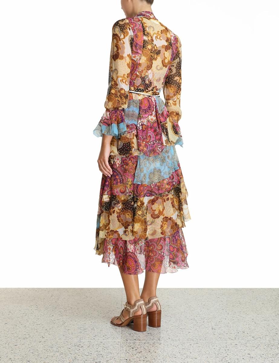 Fiesta Flounce Long Dress