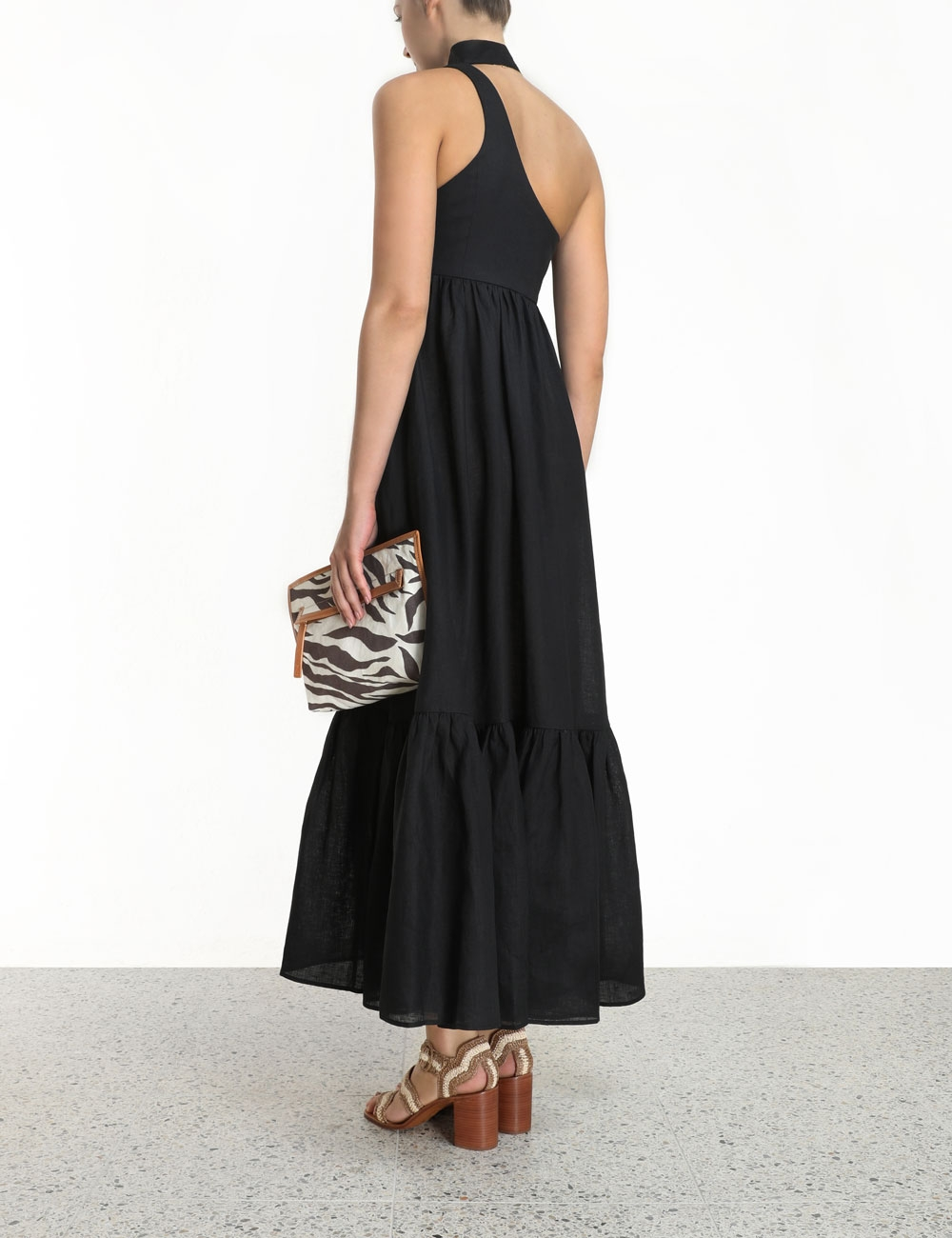 Empire Tie Neck Dress