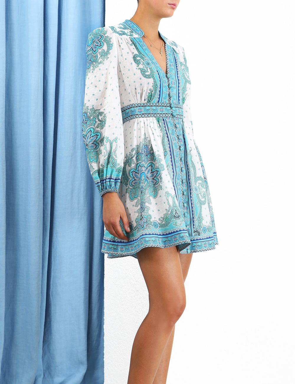 Bells Paisley Short Dress