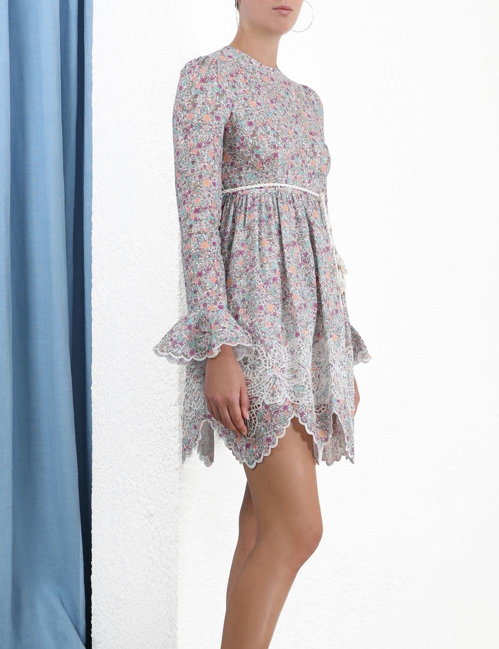 Carnaby Frill Short Dress