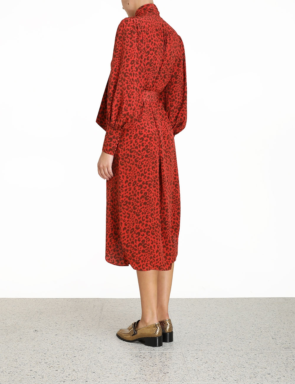 Silk Billow Shirt Dress