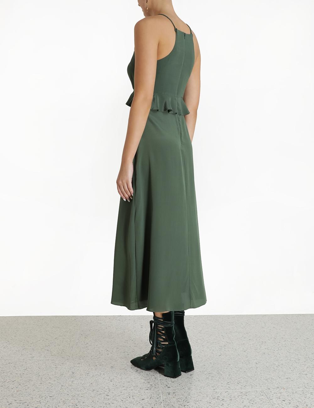 Silk Flounce Picnic Dress