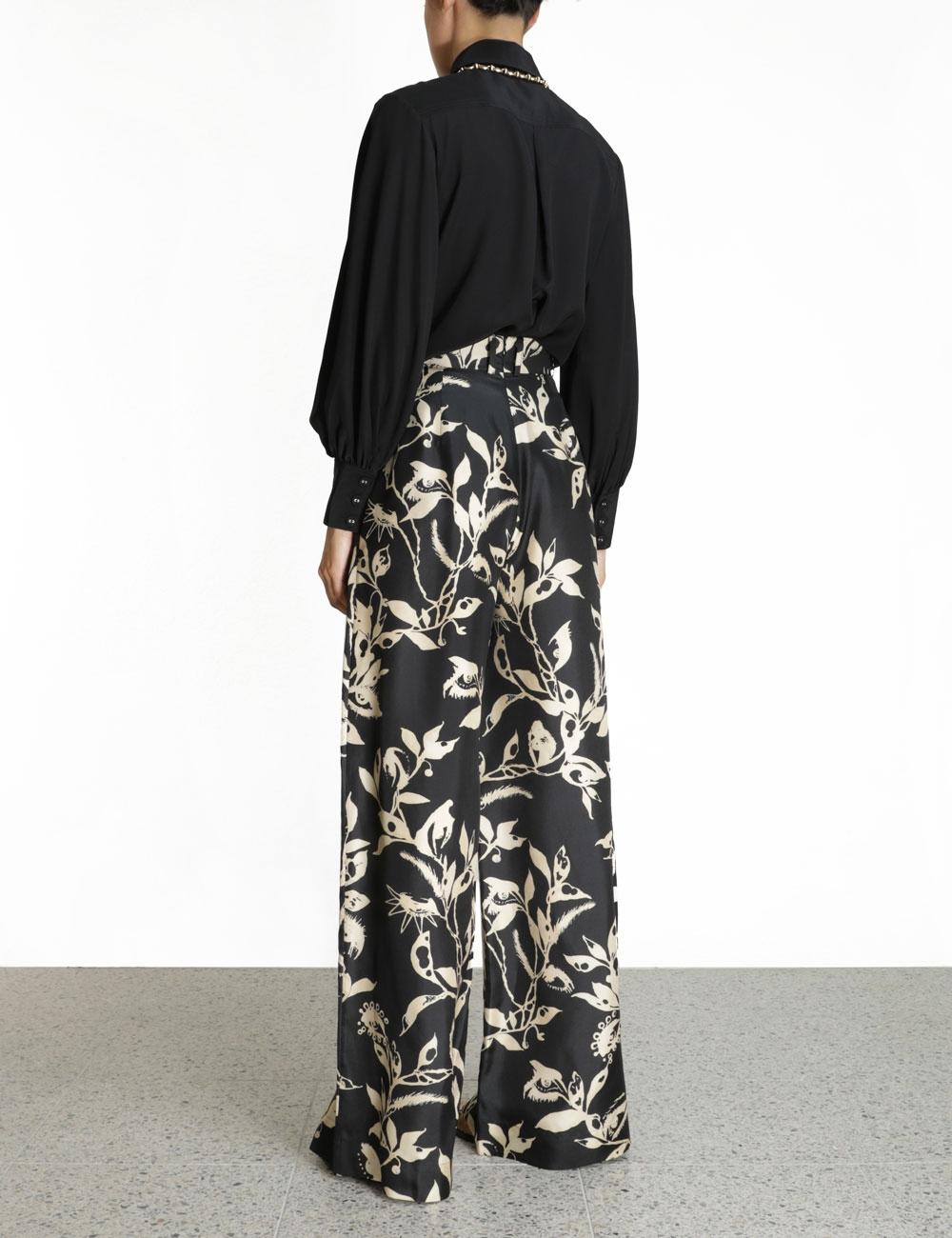 Silk Tie Front Blouse