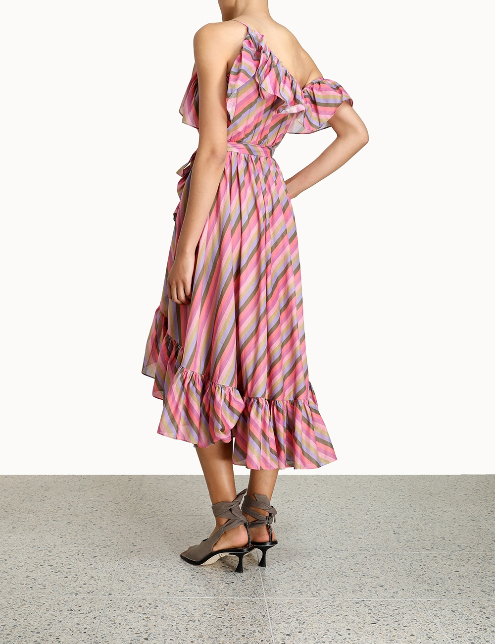 Poppy Asymmetric Frill Dress