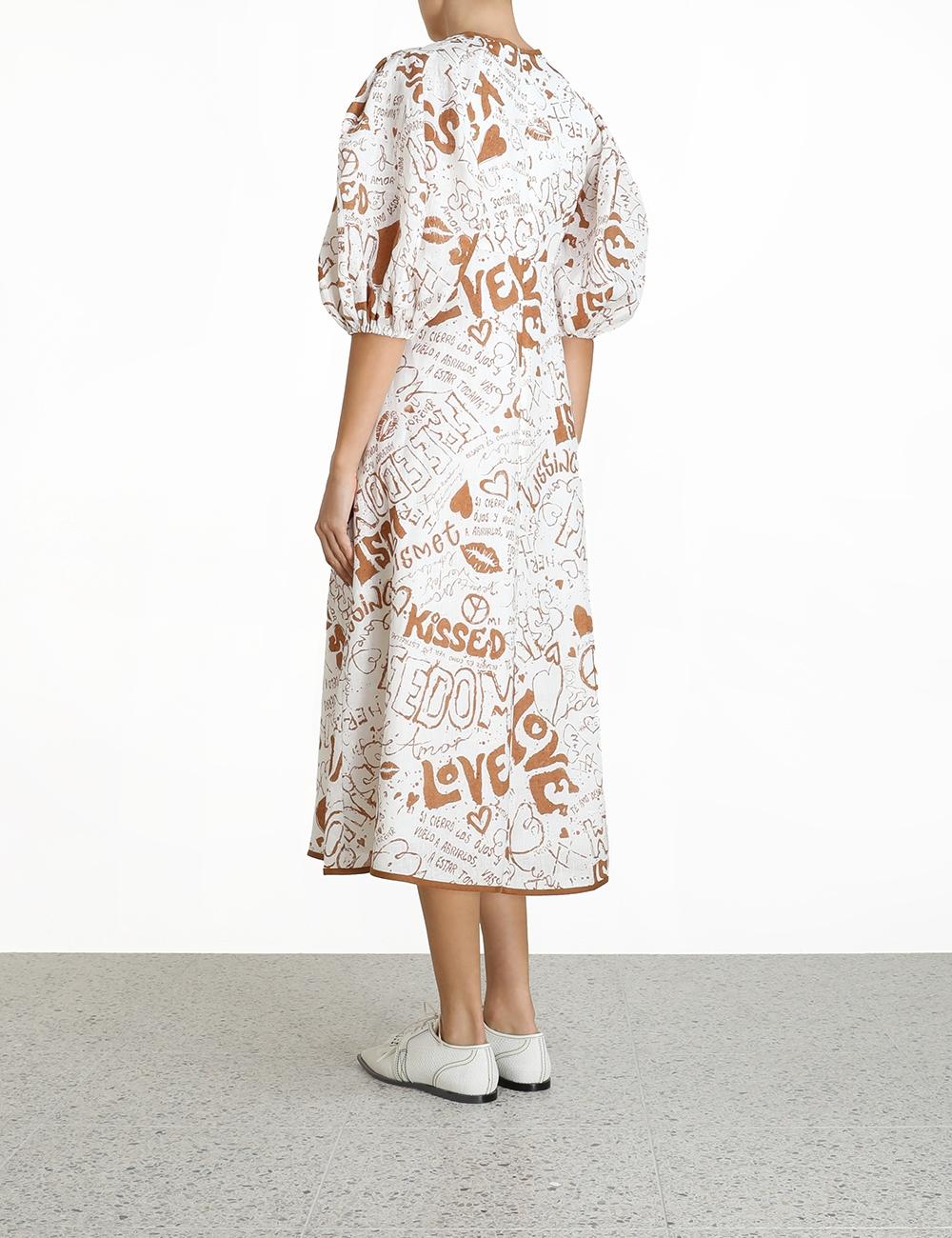 Linen Day Midi Dress