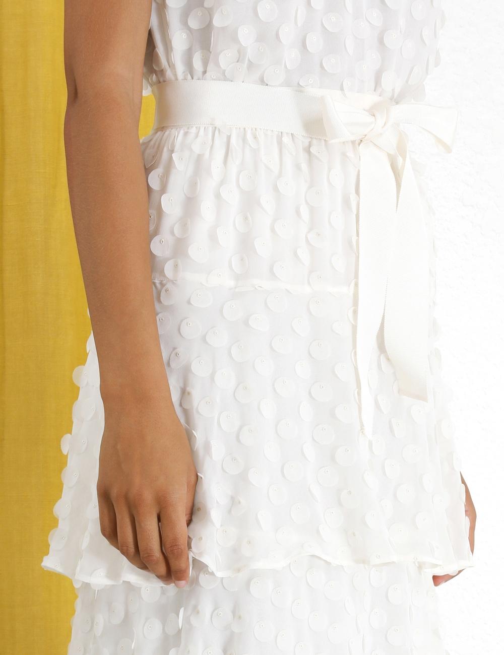Textured Dot Skirt