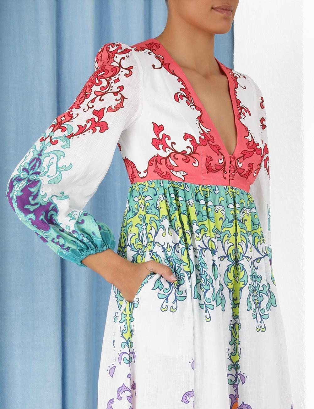 Nina Plunge Midi Dress
