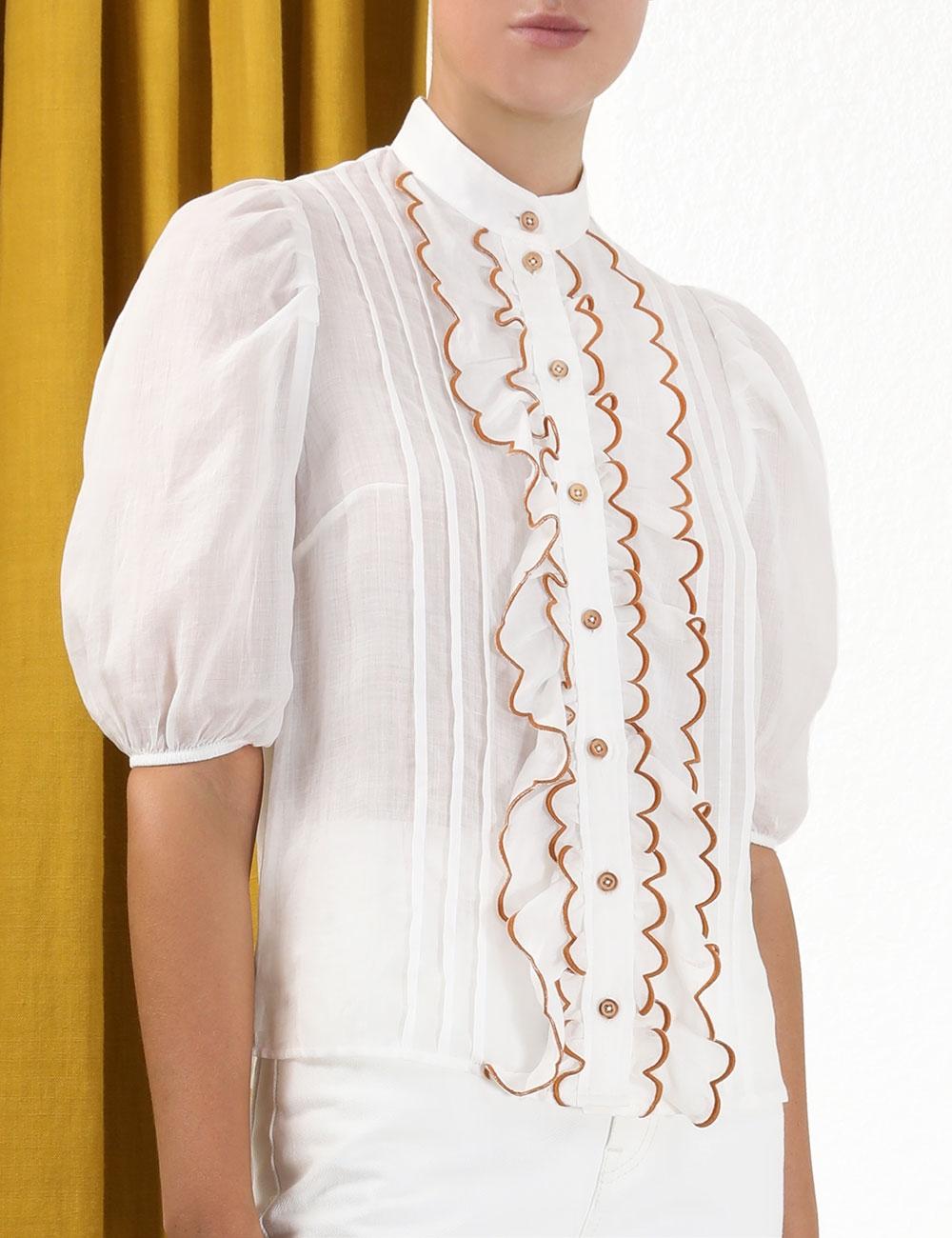 Aliane Scallop Frill Shirt