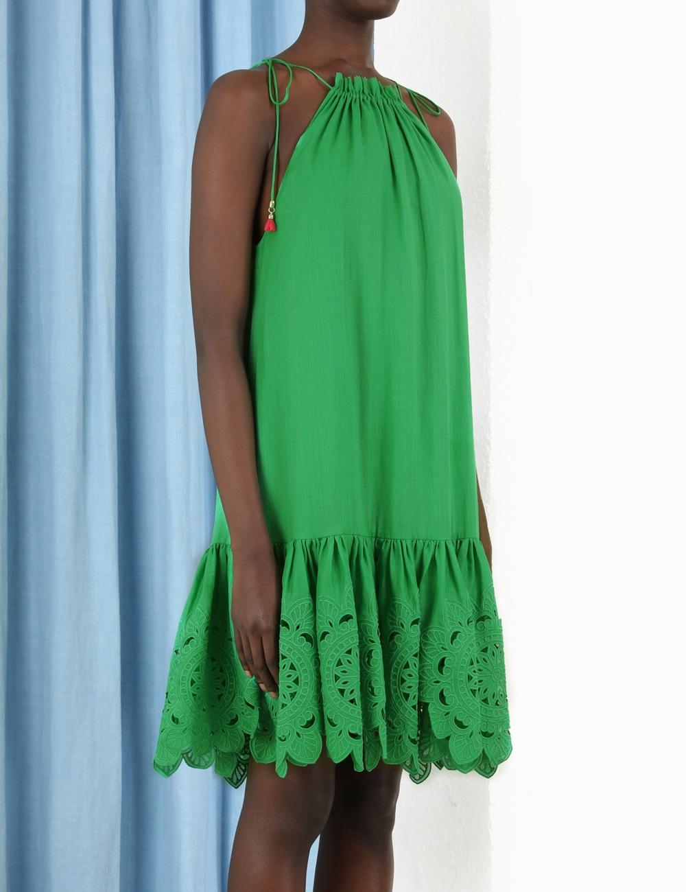 Teddy Scallop Mini Dress