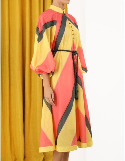 Estelle Chevron Midi Dress