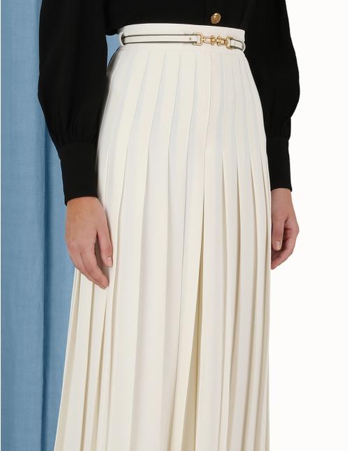 Crepe Pleated Culottes
