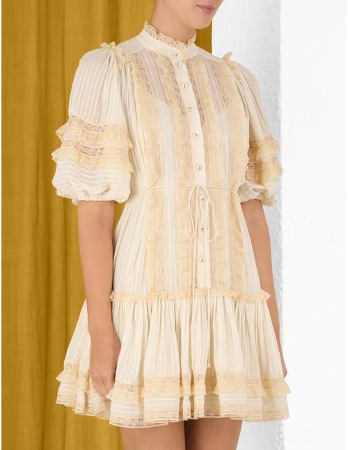 Concert Pintucked Mini Dress