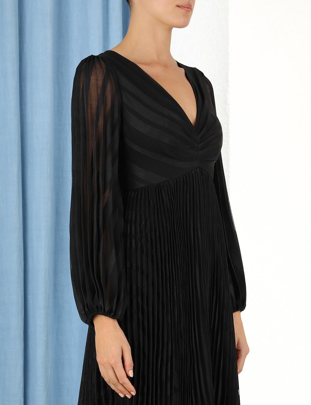 Burnout Sunray Midi Dress