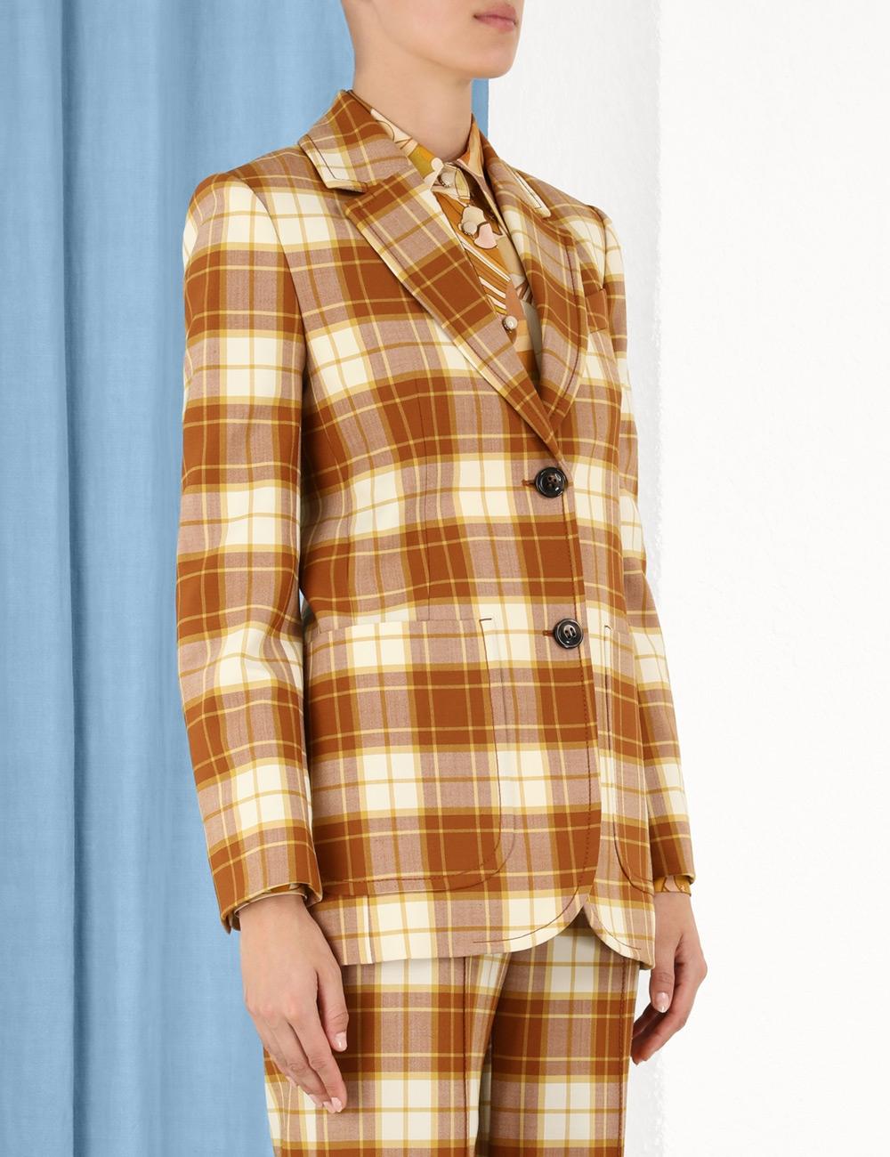 Tempo Check Long Line Jacket