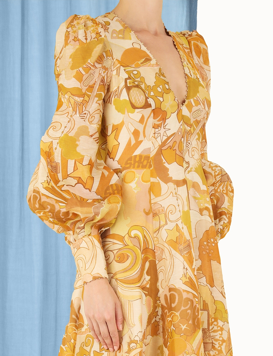 Tempo Honey Collage Gown