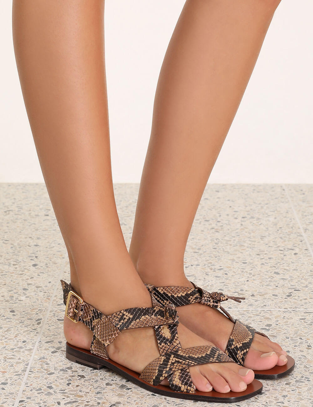 Cross Over Flat Sandal