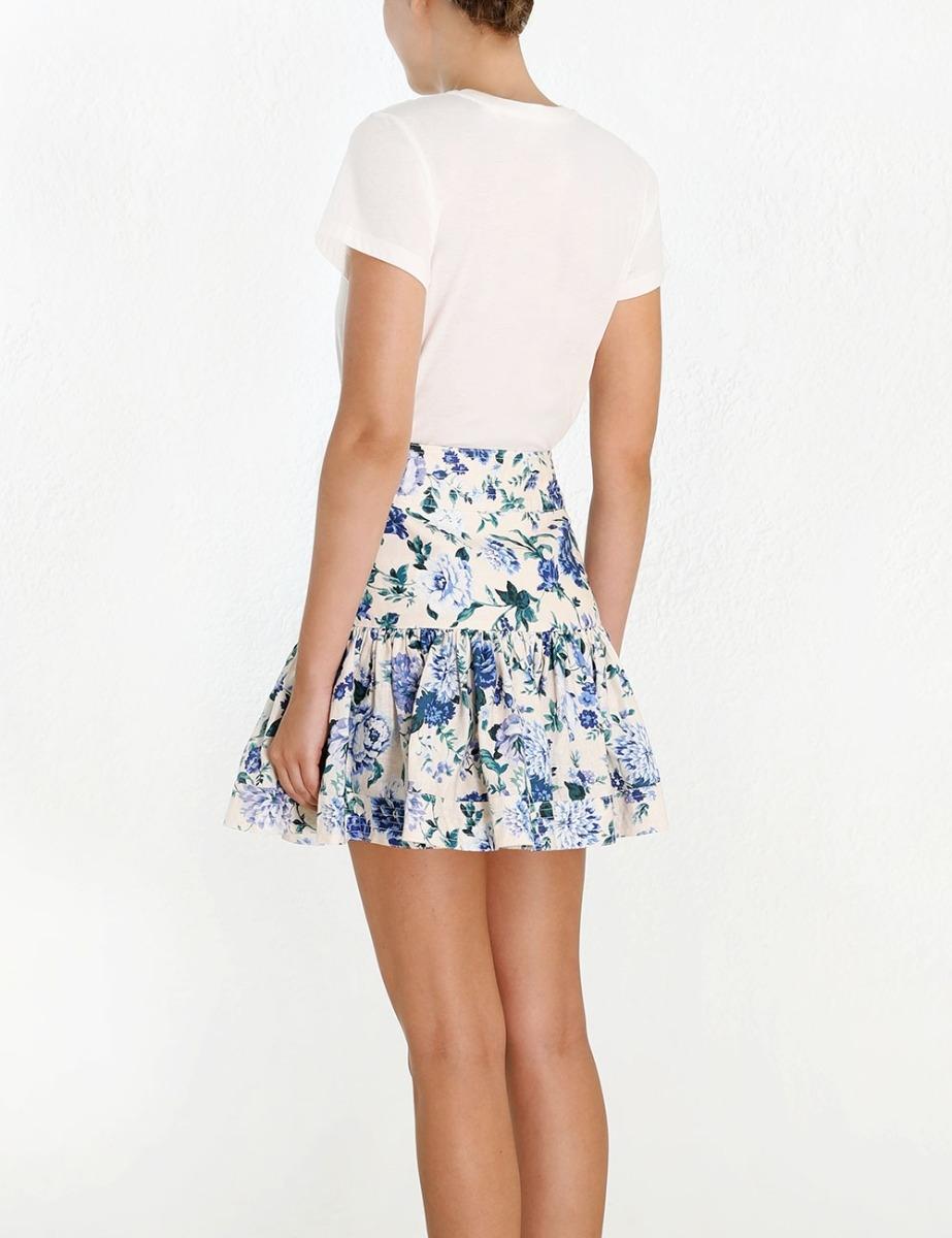 Moncur Flounce Short Skirt