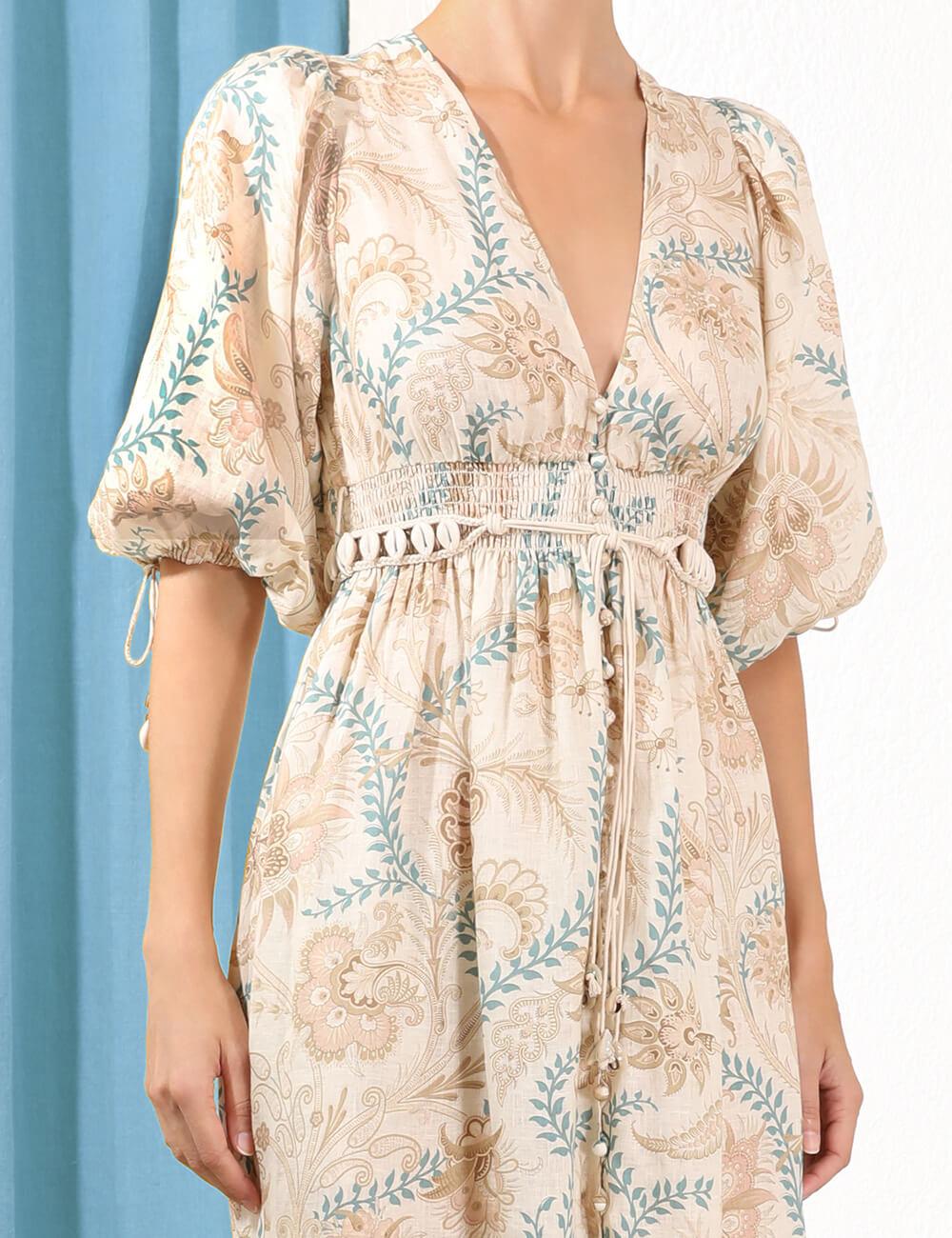 Veneto Shirred Waist Dress