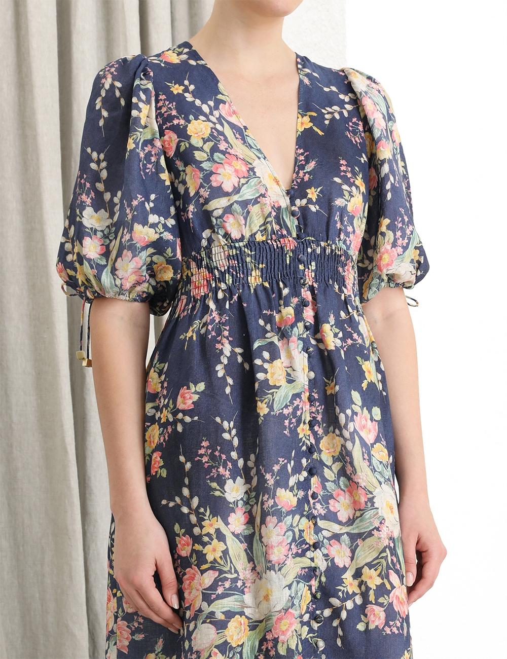 Zinnia Shirred Waist Dress