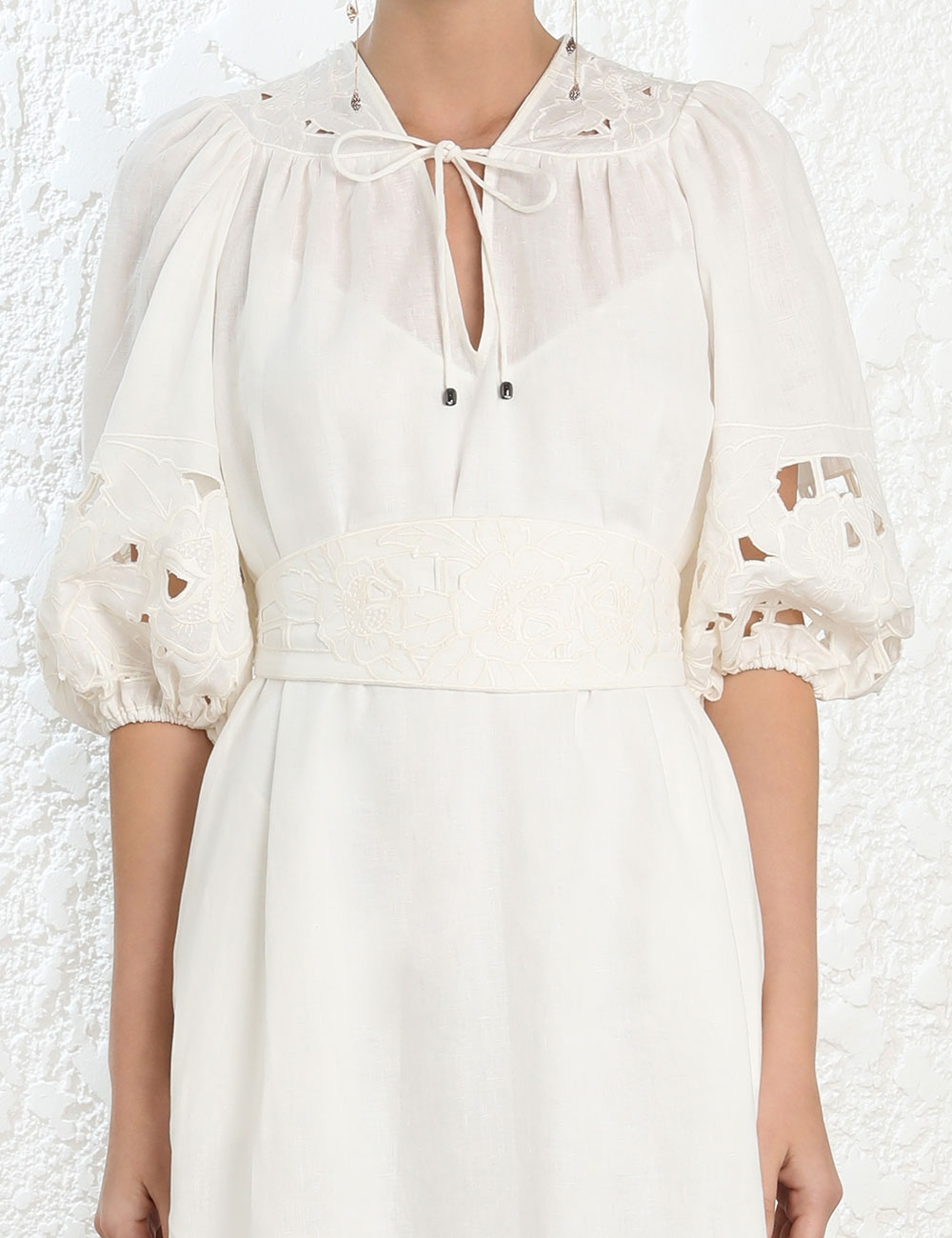 Juno Embroidered Yoke Dress