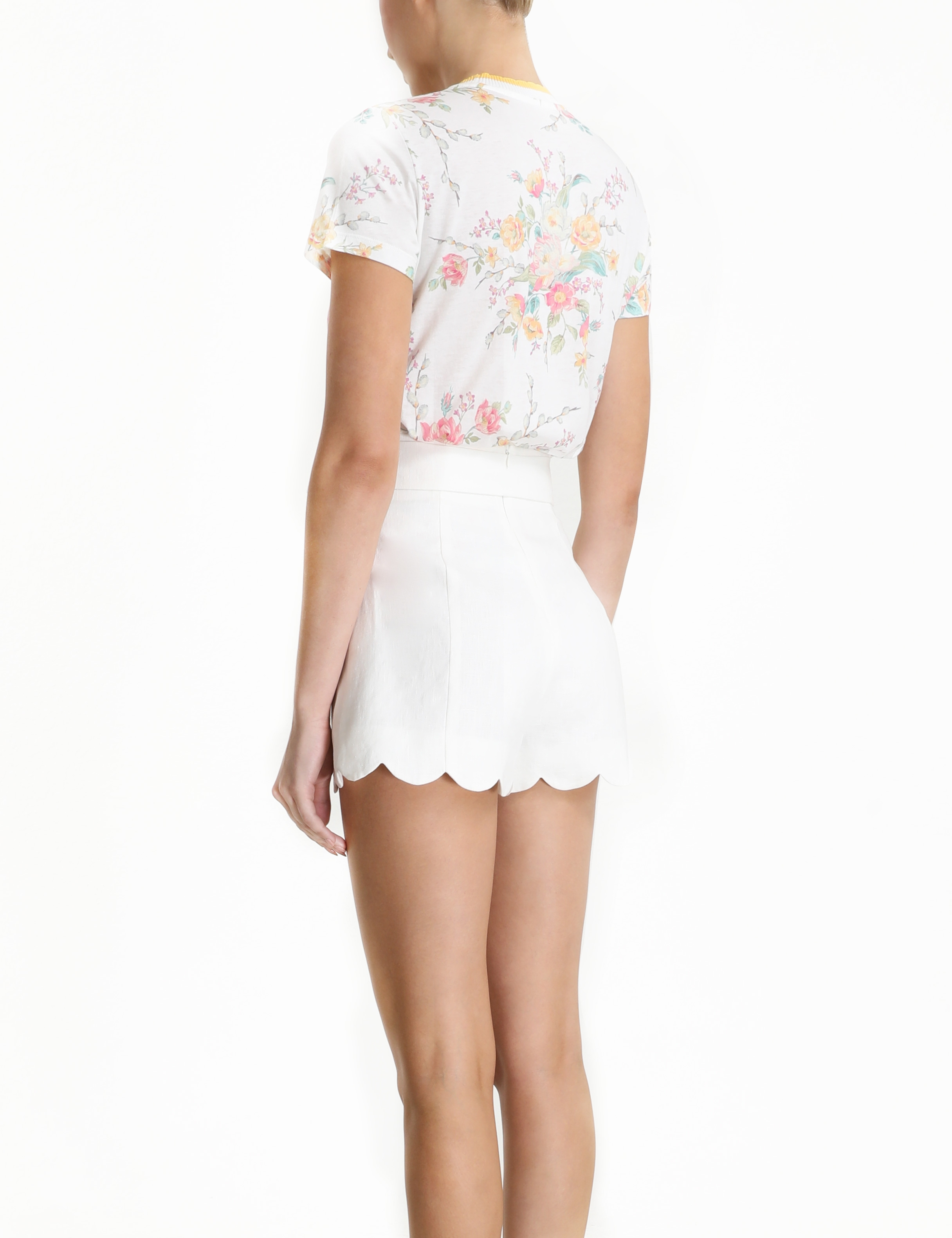 Zinnia Floral Print Fitted Tee