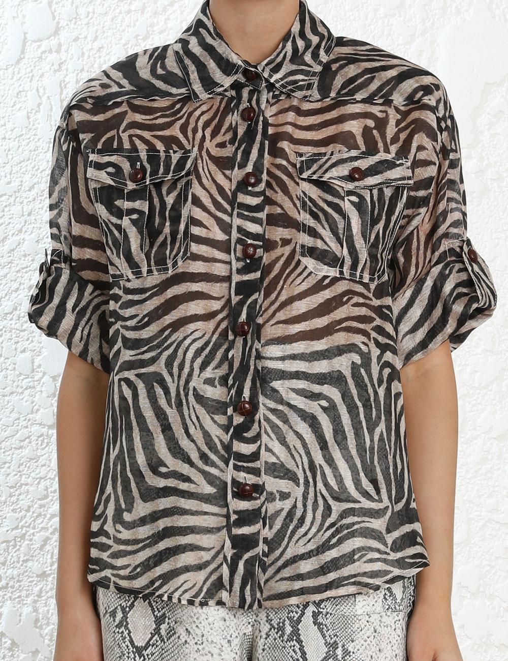 Corsage Safari Shirt