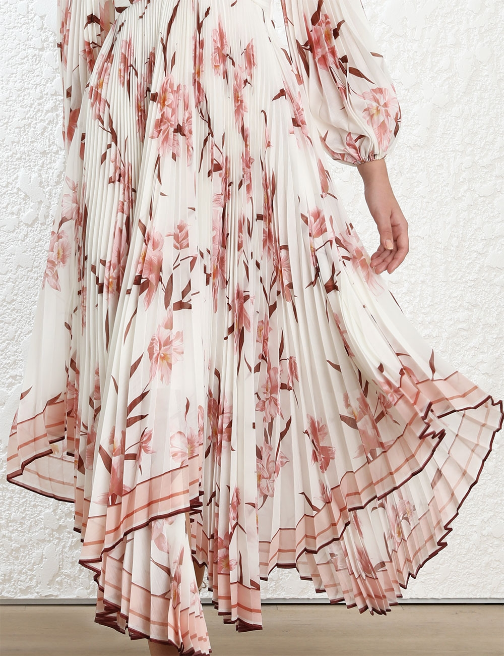 Corsage Pleated Dress