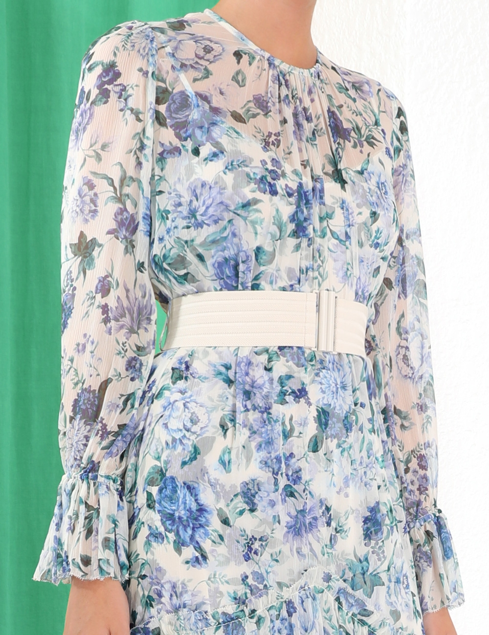 Moncur Chevron Frill Dress