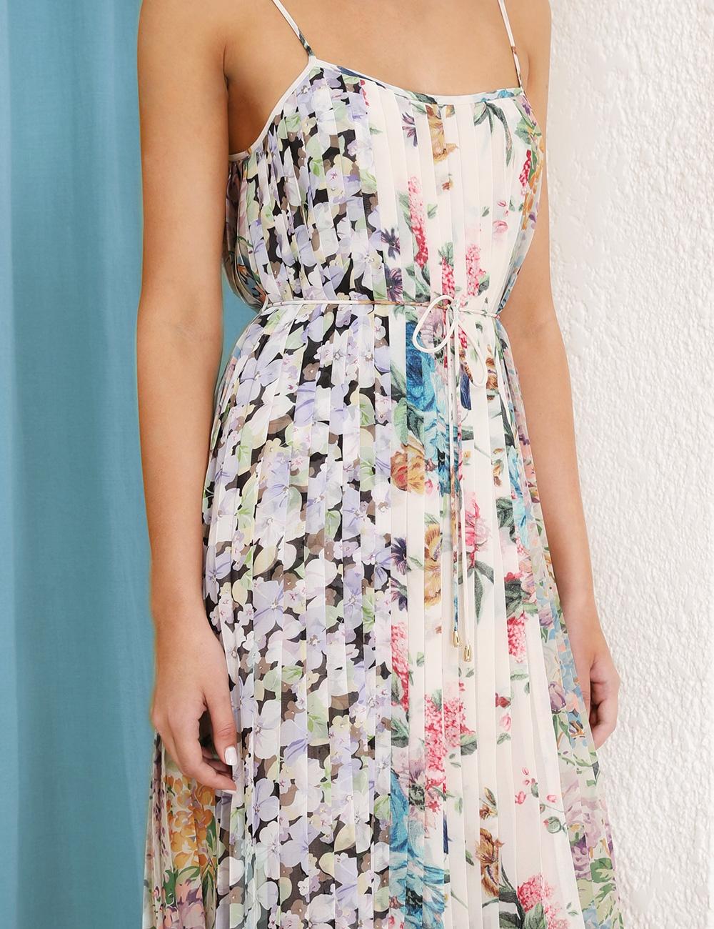 Ninety-Six Pleated Slip Dress