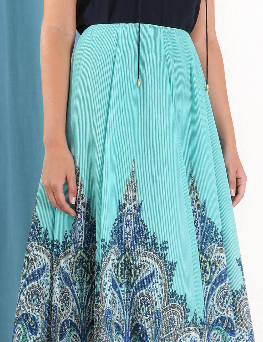 Moncur Ruffle Midi Skirt