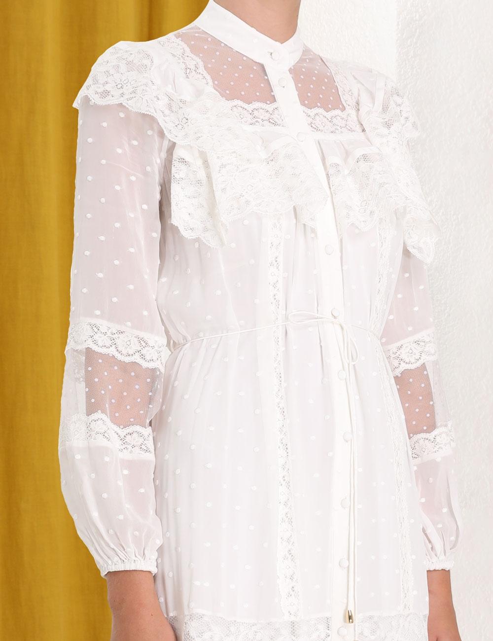Moncur Lace Yoke Dress